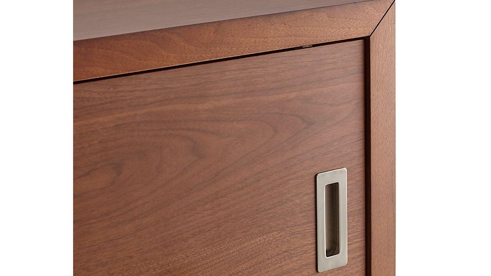 "Aspect Walnut 47.5"" Modular Sliding Door Storage Unit"