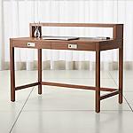 Aspect Walnut Modular Desk with Hutch
