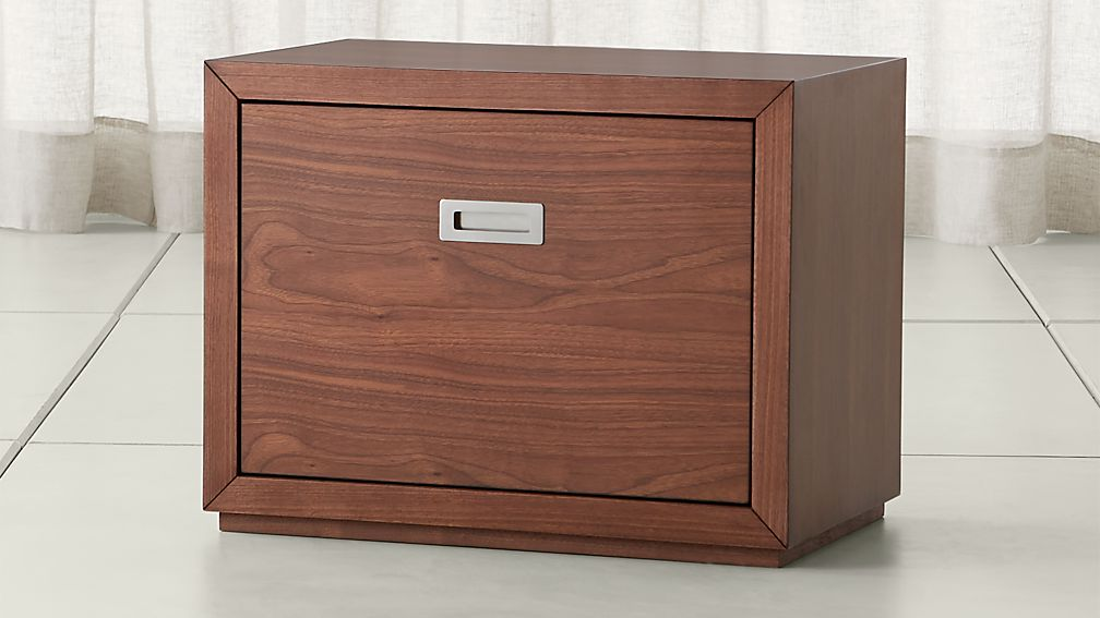 Aspect Walnut 23 75 Modular Low File Cabinet Reviews Crate And