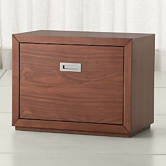 "Aspect Walnut 23.75"" Modular Low File Cabinet"