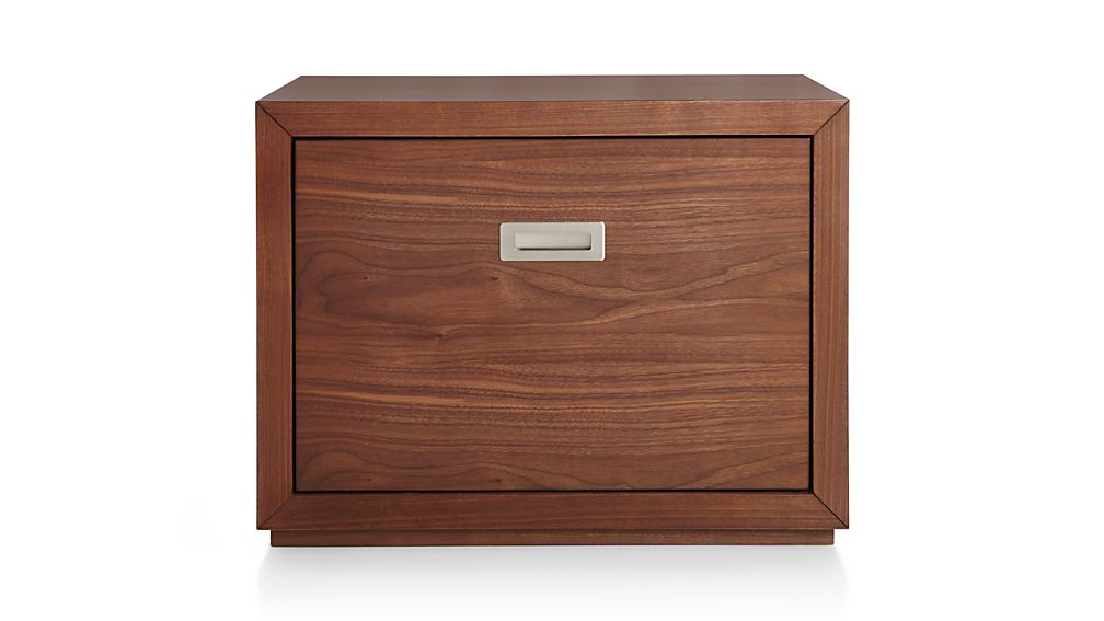 "Aspect Walnut 23.75"" Modular Low File Cabinet"