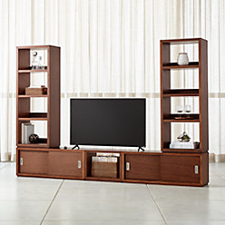 aspect walnut modular desk with hutch reviews crate and barrel. Black Bedroom Furniture Sets. Home Design Ideas