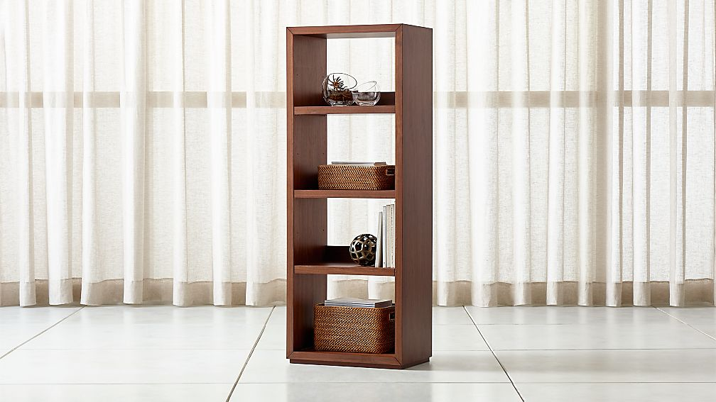 Aspect Walnut Modular Open Bookcase - Image 1 of 3