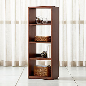 Aspect Walnut Modular Open Bookcase