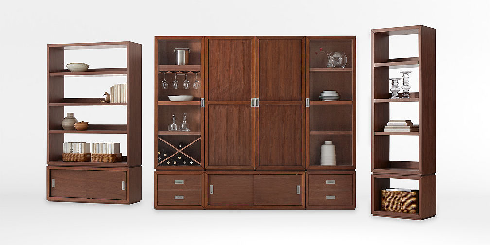 Wood closet shelving Industrial Lowes Modular Storage Collections Crate And Barrel
