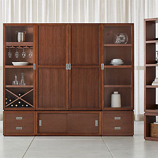 Aspect Walnut Modular Storage Collection