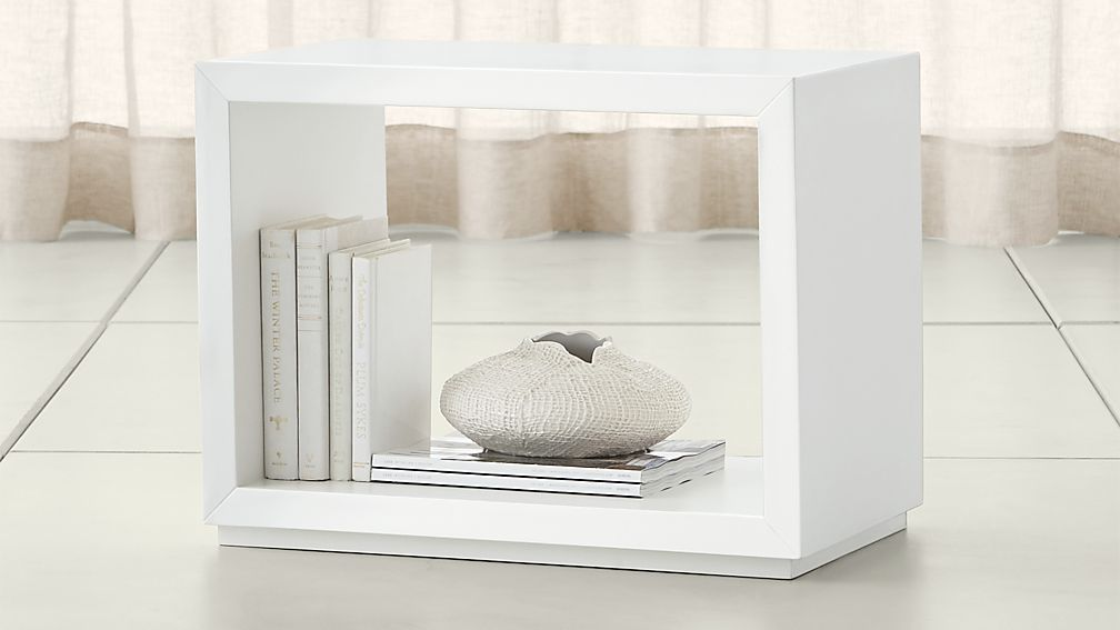 "Aspect White 23.75"" Modular Open Storage Unit - Image 1 of 13"