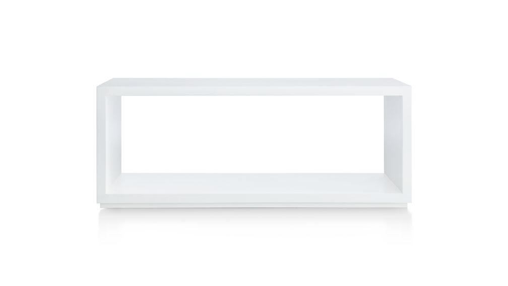 "Aspect White 47.5"" Modular Open Storage Unit"