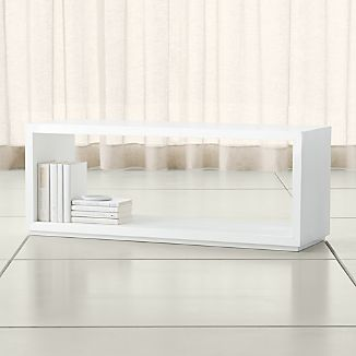 "Aspect White 47.5"" Modular Open Storage Unit"