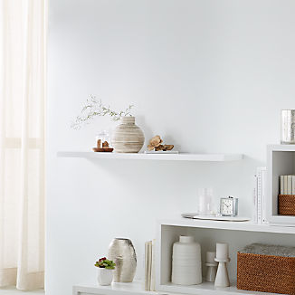 "Aspect White 47.5"" Floating Wall Shelf"