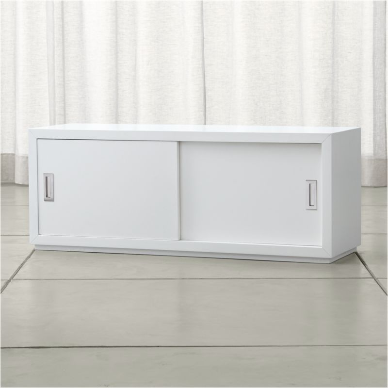 Aspect White 47 5 Modular Sliding Door Storage Unit