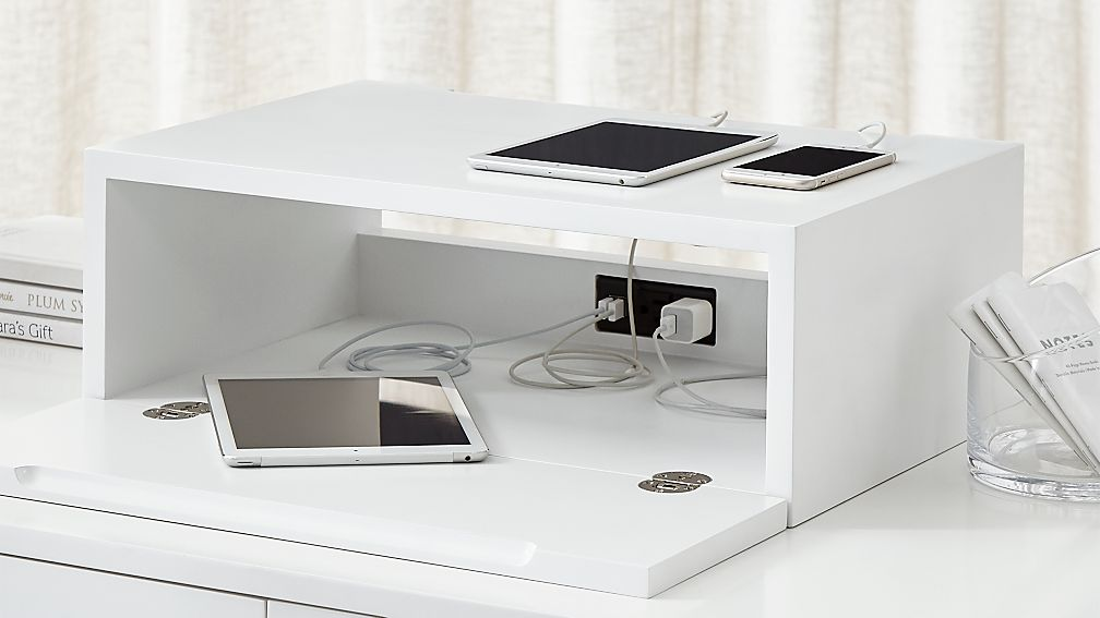 Aspect White Charging Station With Power Reviews Crate