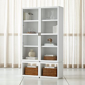 Display cabinets crate and barrel newaspect white 4 piece glass door storage unit add to favorites planetlyrics Choice Image