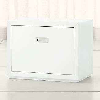 "Aspect White 23.75"" Modular Low File Cabinet"