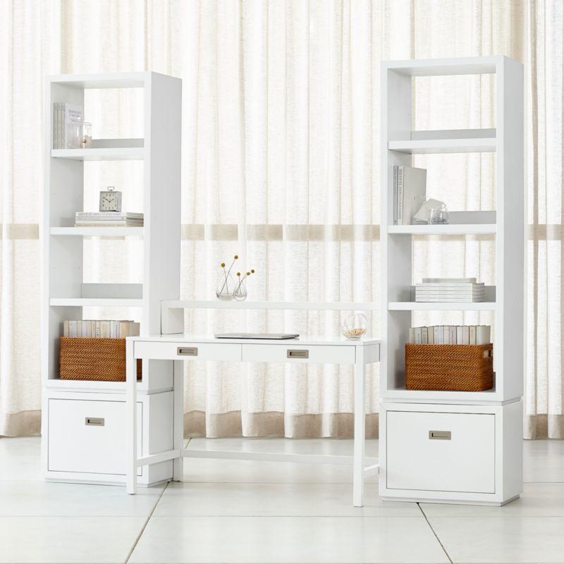 office shelf desktop background aspect white modular office with file cabinets modern home desks crate and barrel