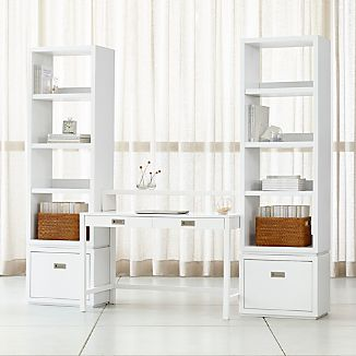 Aspect White Modular Office With 2 File Cabinets