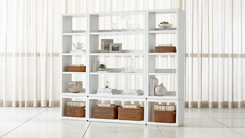 Aspect White 6-Piece Open Storage Unit - Image 1 of 2