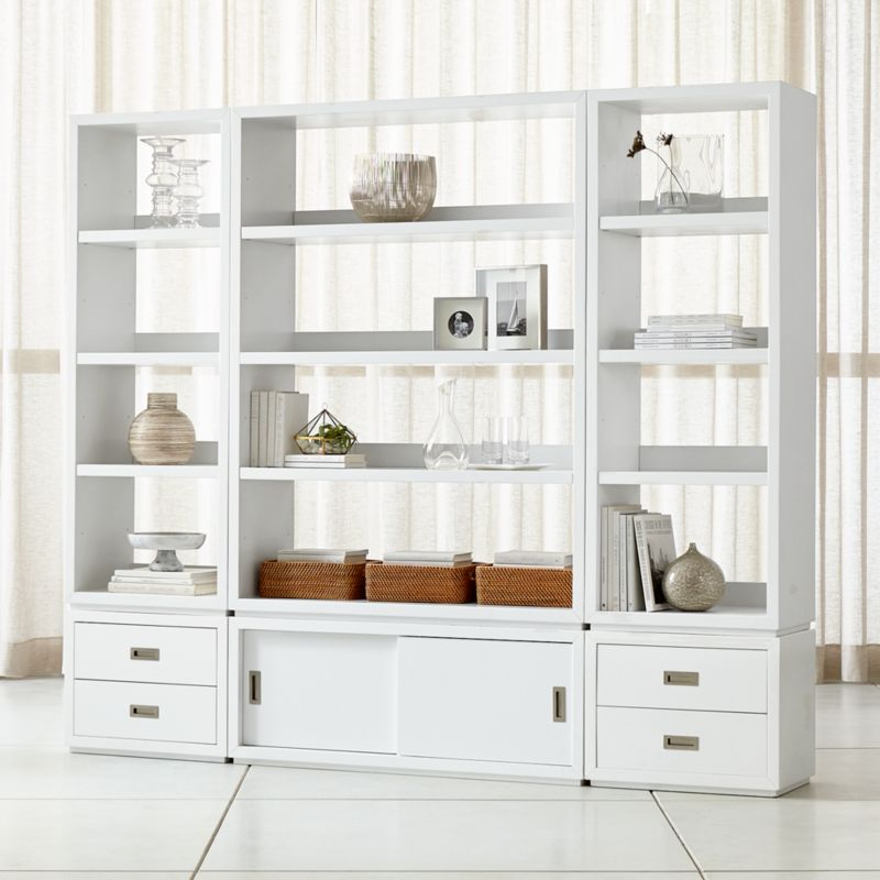 Very best Bookcases: Wood, Metal and Glass | Crate and Barrel QD23