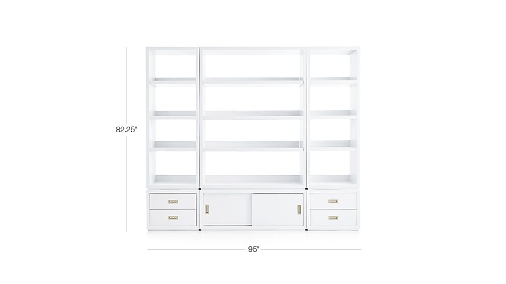 9b1b534f640 TAP TO ZOOM Image with dimension for Aspect White 6-Piece Open Storage Unit  with Drawers