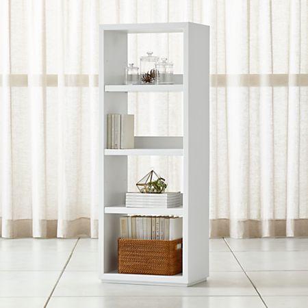 Aspect White Modular Open Bookcase