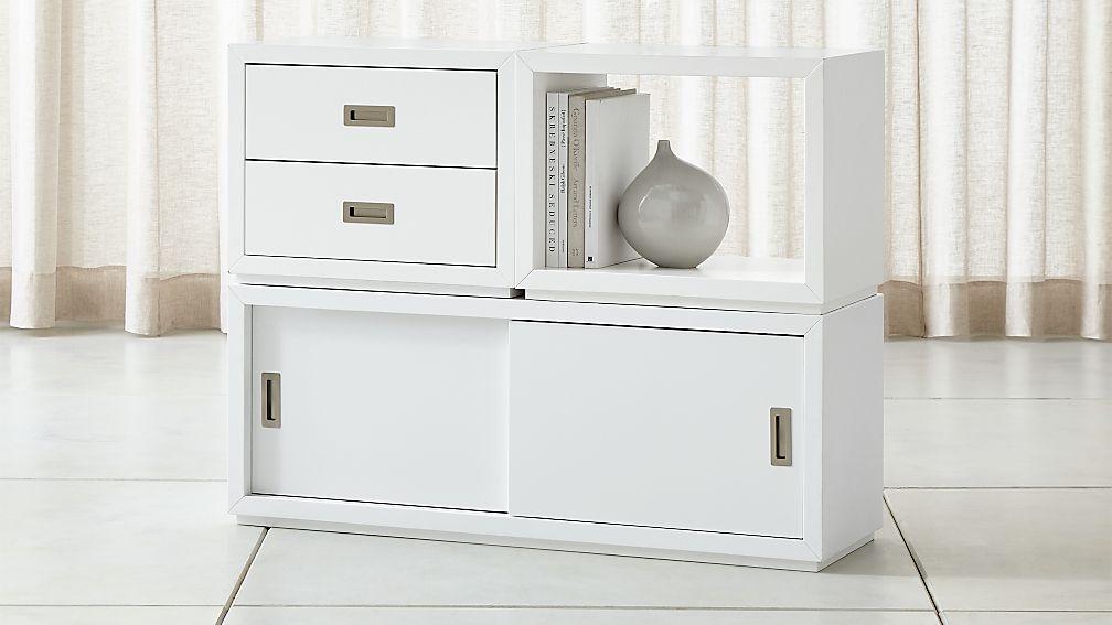 Aspect White 3-Piece Small Modular Storage Set - Image 1 of 2