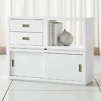 Aspect White 3-Piece Small Modular Storage Set
