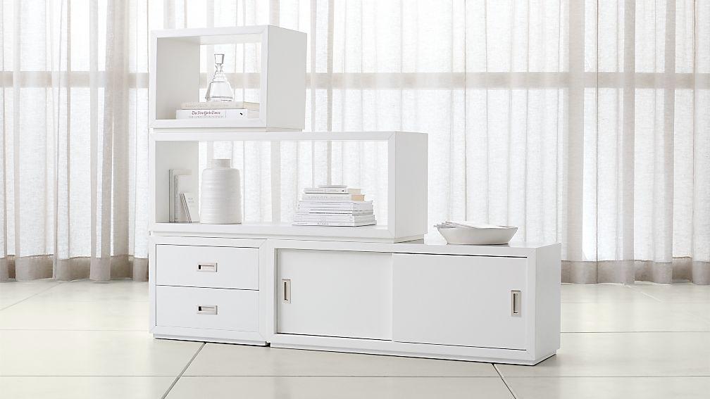 Aspect White 4-Piece Large Modular Storage Set - Image 1 of 3