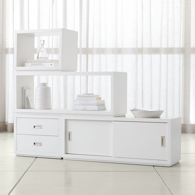 Aspect White 4 Piece Large Modular Storage Set