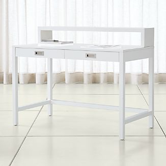 Aspect White Desk with Hutch