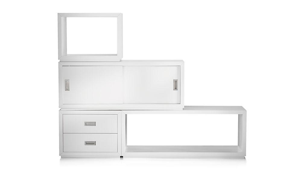"Aspect White 23.75"" Modular Low File Cabinet"