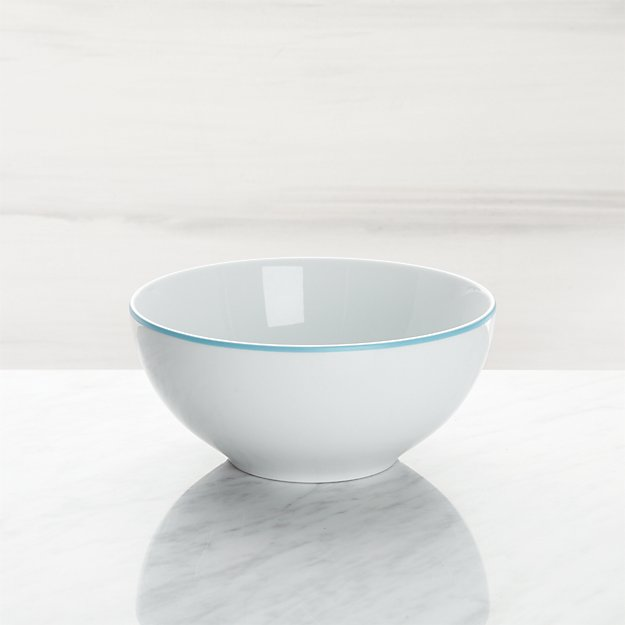 Aspen Aqua Band Cereal Bowl - Image 1 of 3