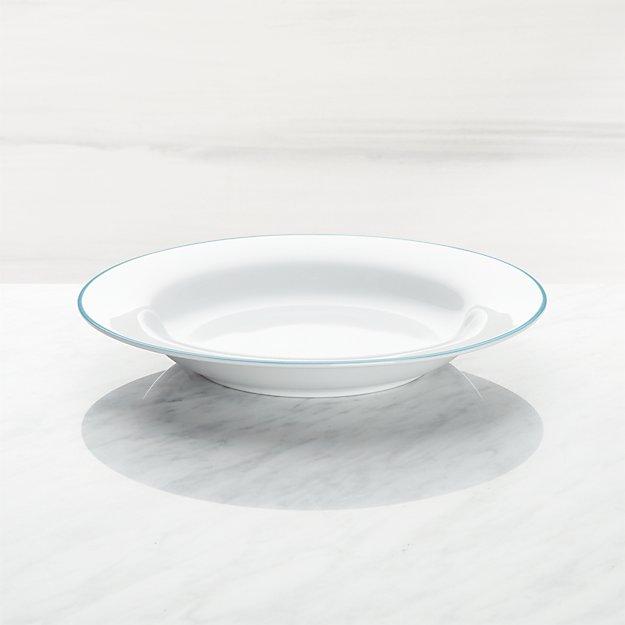 Aspen Aqua Band Low Bowl - Image 1 of 3