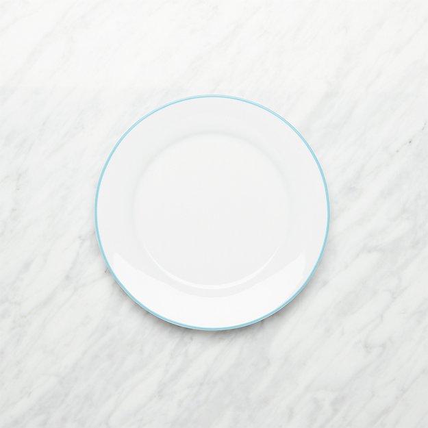 Aspen Aqua Band Salad Plate - Image 1 of 3