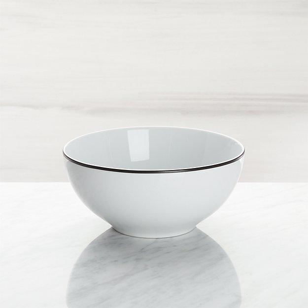 Aspen Black Band Cereal Bowl - Image 1 of 3