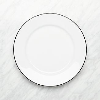 Aspen Black Band Dinner Plate