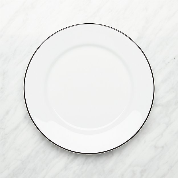Aspen Black Band Dinner Plate - Image 1 of 3