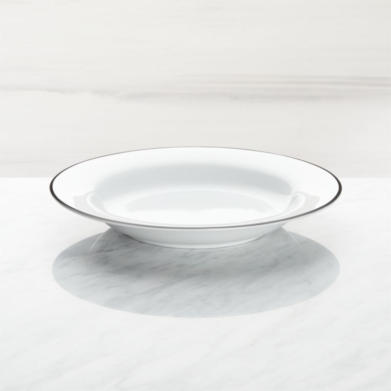 Aspen Black Band Low Bowl by Crate&Barrel