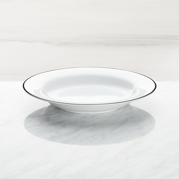 Aspen Black Band Low Bowl - Image 1 of 3
