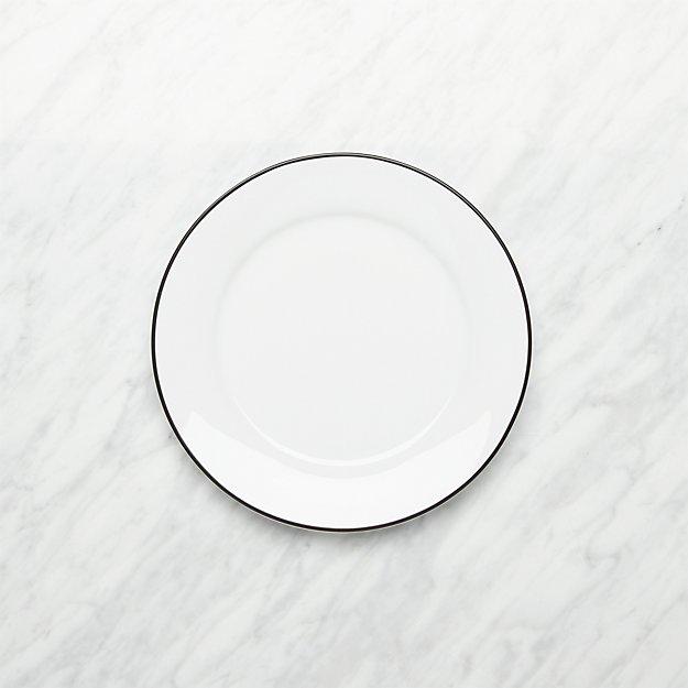 Aspen Black Band Salad Plate - Image 1 of 3