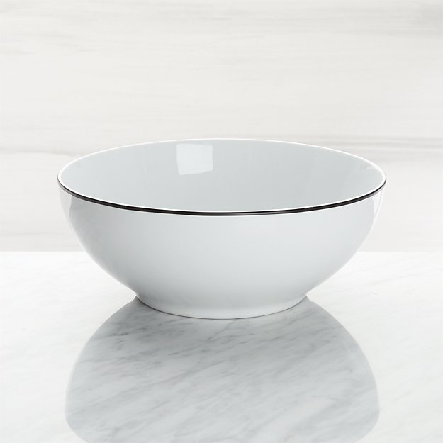 Aspen Black Band Serving Bowl - Image 1 of 3