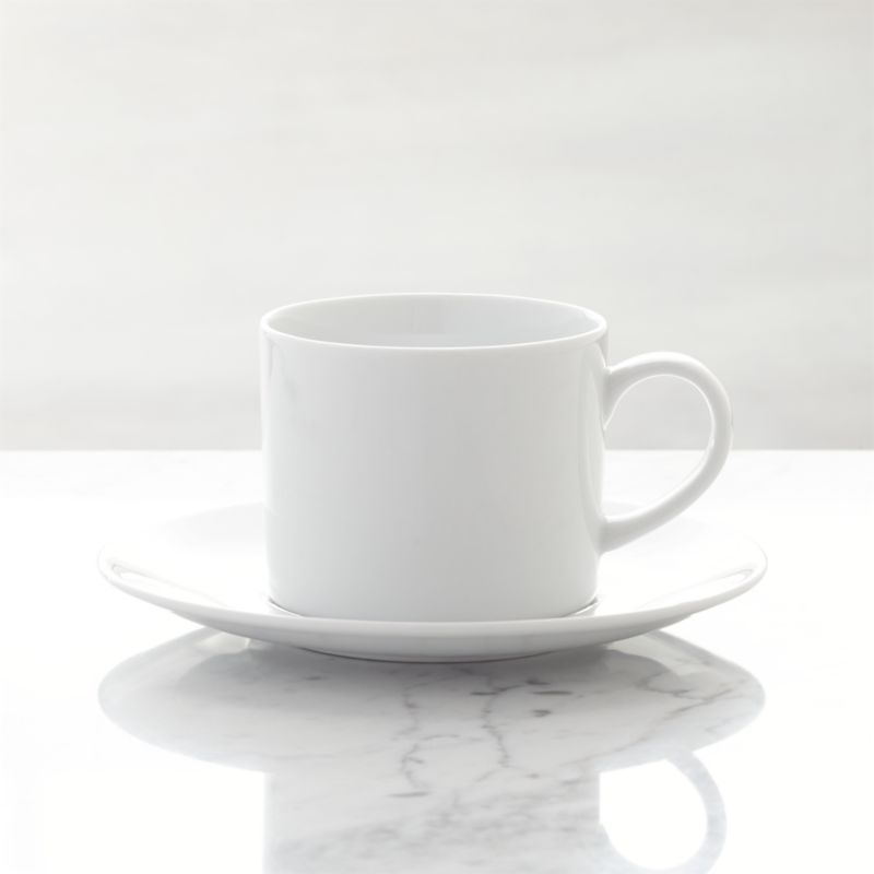 White Coffee Cup And Saucer Reviews Crate And Barrel