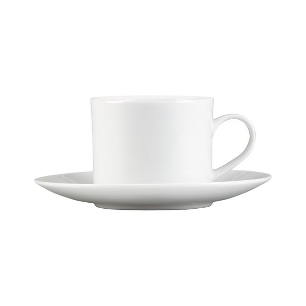 White Coffee Cup And Saucer Reviews Crate Barrel