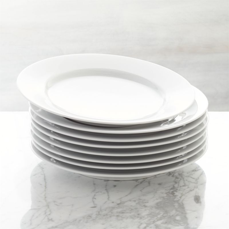 & Set of 8 Aspen Dinner Plates + Reviews | Crate and Barrel