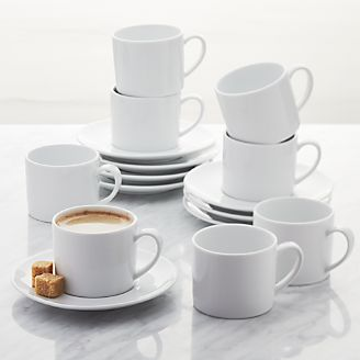 Aspen Espresso Cup With Saucer Set Of 8