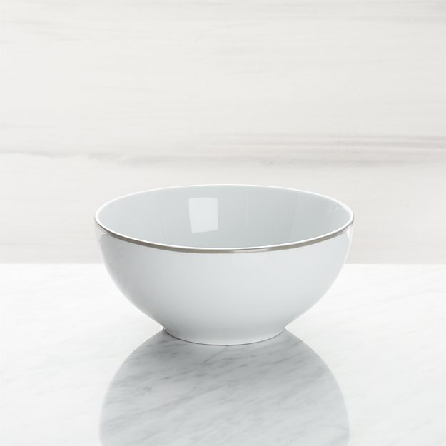 Aspen Grey Band Cereal Bowl - Image 1 of 3