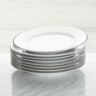 Aspen Grey Band Dinner Plates 304fbc8b5228