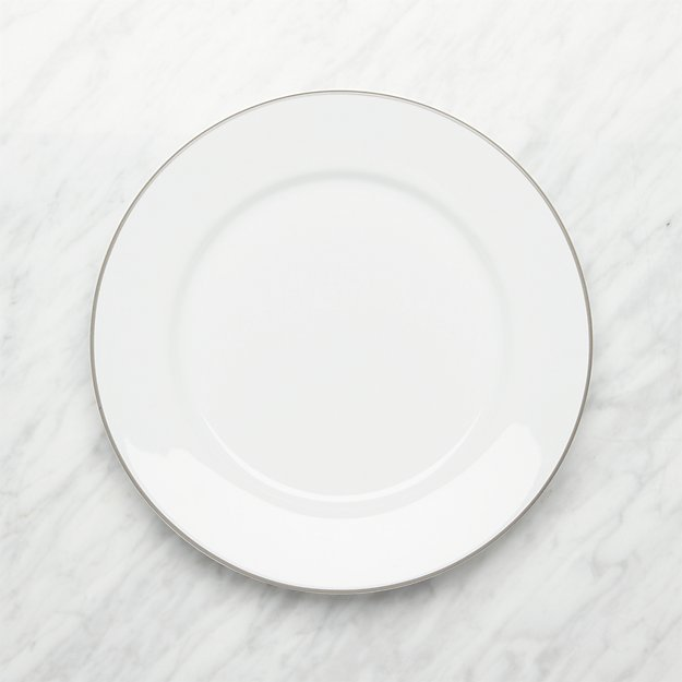 Aspen Grey Band Dinner Plate - Image 1 of 3