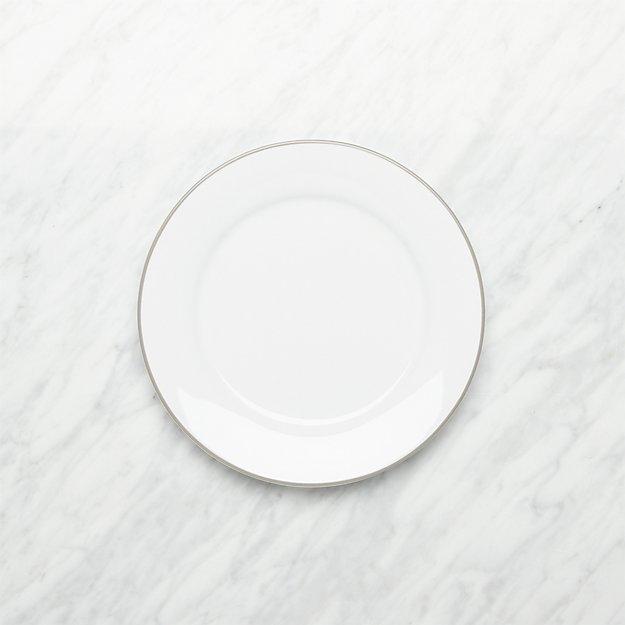 Aspen Grey Band Salad Plate - Image 1 of 3