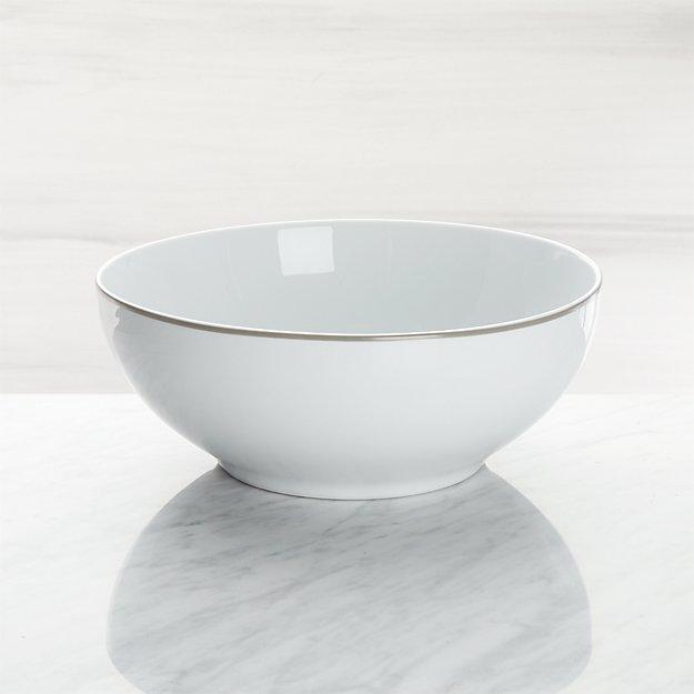Aspen Grey Band Serving Bowl - Image 1 of 3