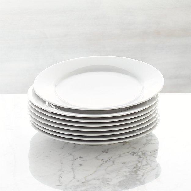 Set Of 8 Aspen Salad Plates Crate And Barrel